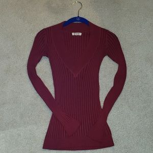 🔷️🔷️Red v-neck long sleeve